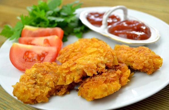 Kąski z kurczaka w chipsach + film2