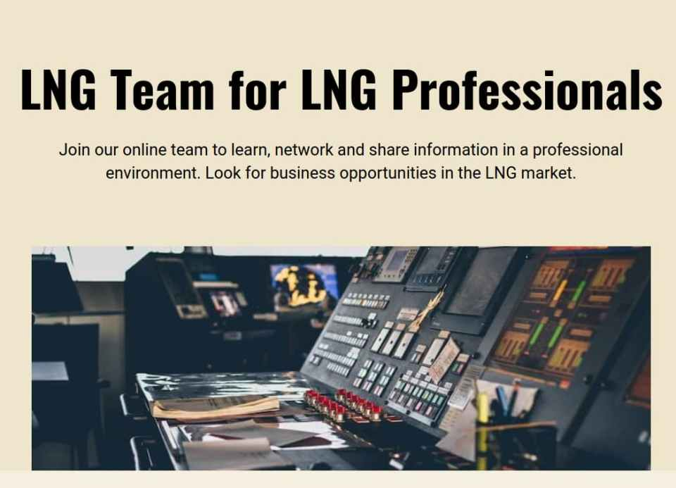 NEW! LNG Team: LNG Professionals Network launched