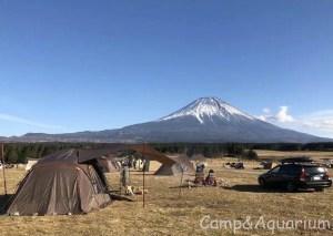 富士山とトルテュproとスクエアエヴォpro小川張り