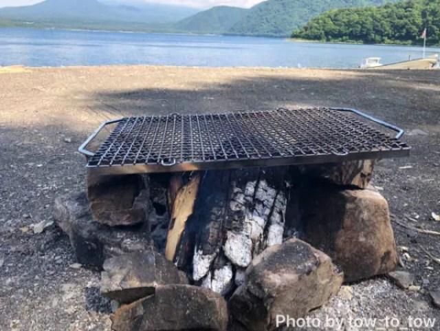 直火で焚き火