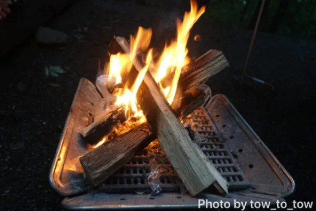 赤城山オートキャンプ場 グリーンエリア ロングサイト 焚き火