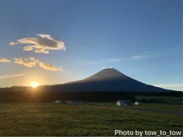 ふもとっぱら 富士山 日の出