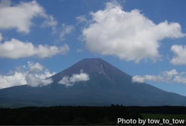 ふもとっぱらから見える富士山