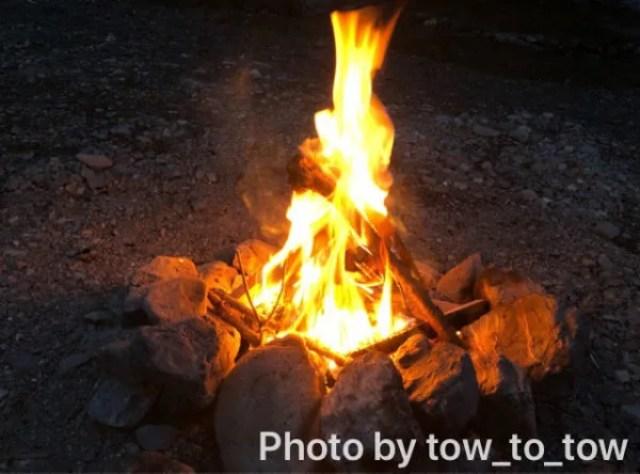 CAZUキャンプ場焚き火
