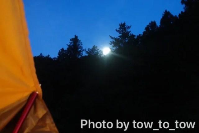 CAZUキャンプ場 月