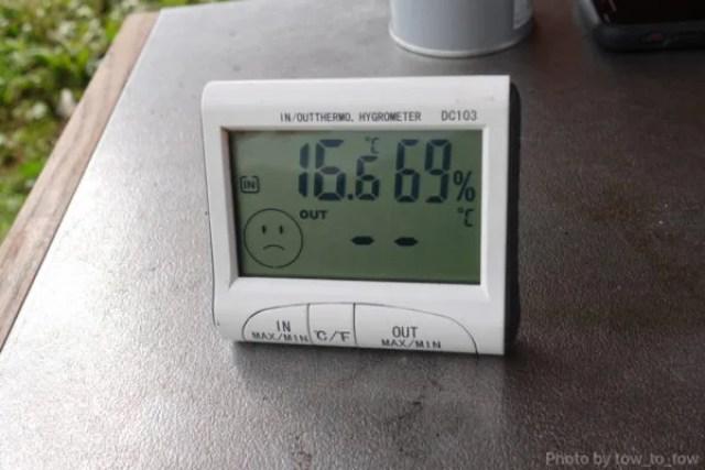 ふもとっぱら ソロキャンプ  10月気温