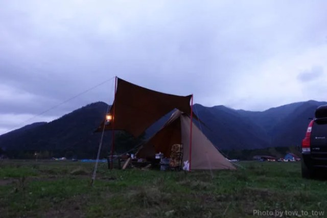 ふもとっぱら ソロキャンプ