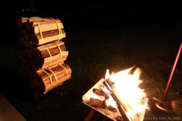 ふもとっぱら ソロキャンプ  焚き火
