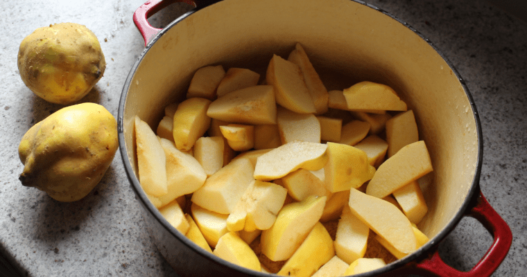 Quince mulling syrup