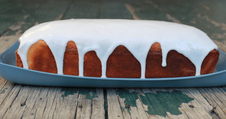 A simple cake, with limoncello glaze