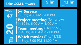 windows phone calendar app