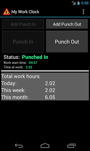 Android time tracking
