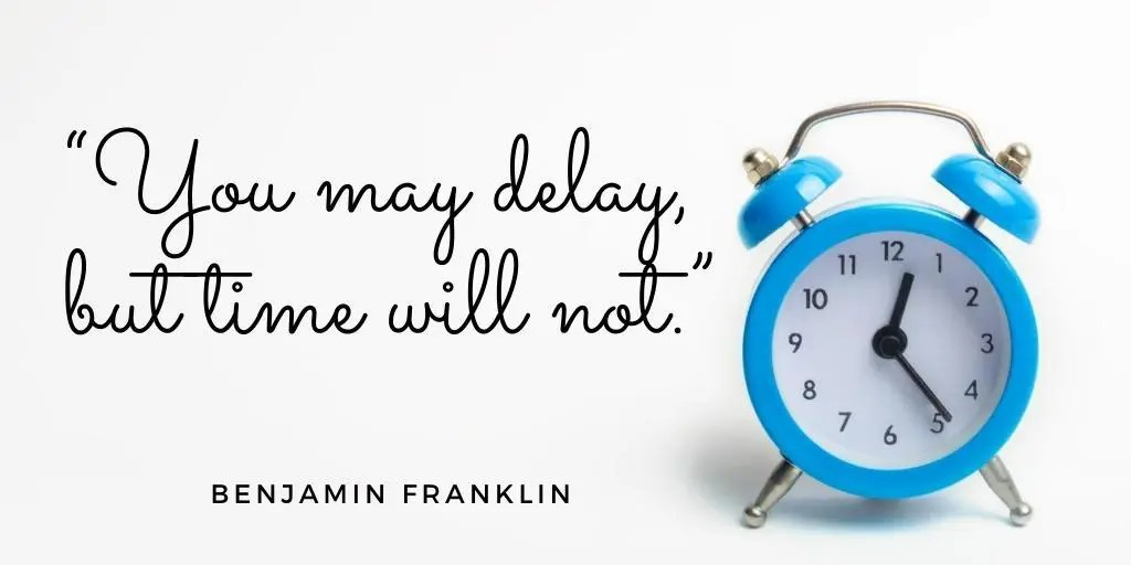 ben franklin quote about time