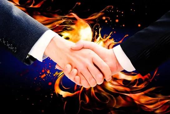 firery handshake
