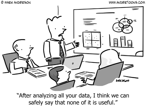 analzying data cartoon business