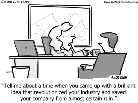 employee interview cartoon business