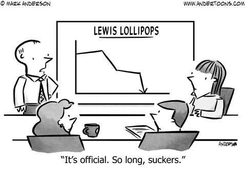low-hanging fruit business cartoon