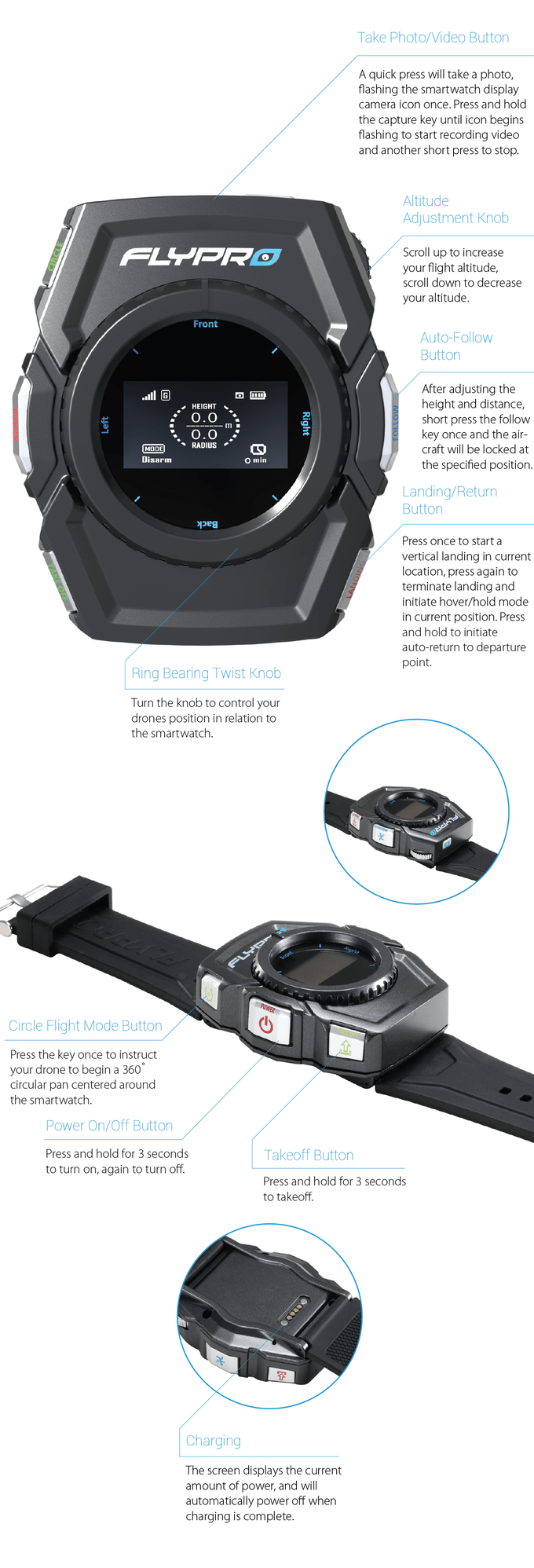 Drone With a Smartwatch Controller - Flypro XEagle