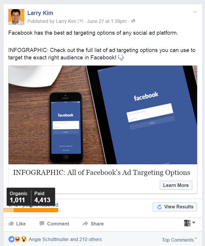 Facebook Organic Reach is NOT Dead -- Post Engagement Ads