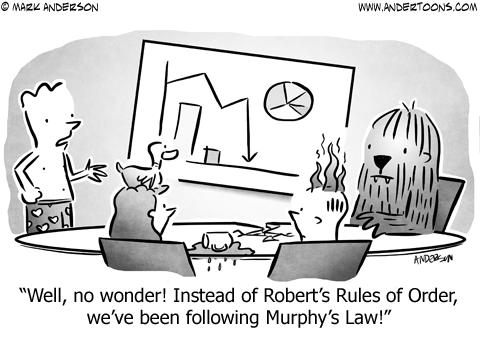 Murphy's Law Business Cartoon