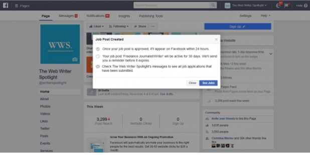 How to Post a Job on Facebook - Step 3: Review and Publish your Job Post