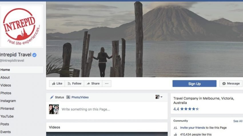 50 Facebook Page Examples to Keep Your Brand Page Fresh - Intrepid Travel