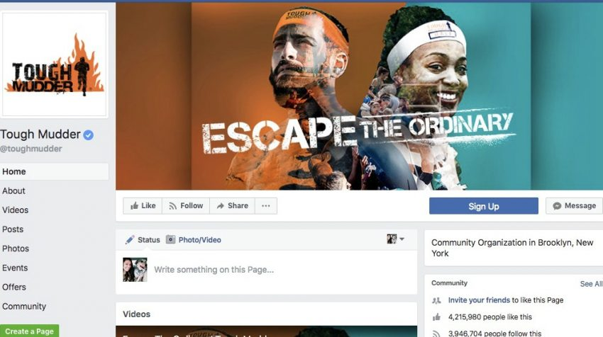 50 Facebook Page Examples to Keep Your Brand Page Fresh - Tough Mudder
