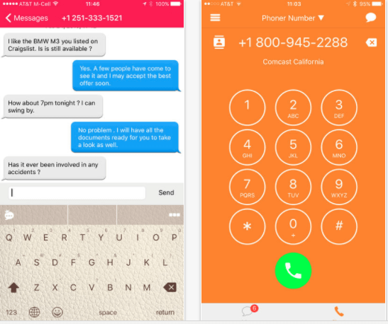 25 android and iphone second phone number apps for business only calls phoner