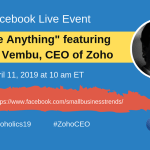 Join Zoho CEO Sridhar Vembu for a Facebook Live AMA from Zoholics This Thursday