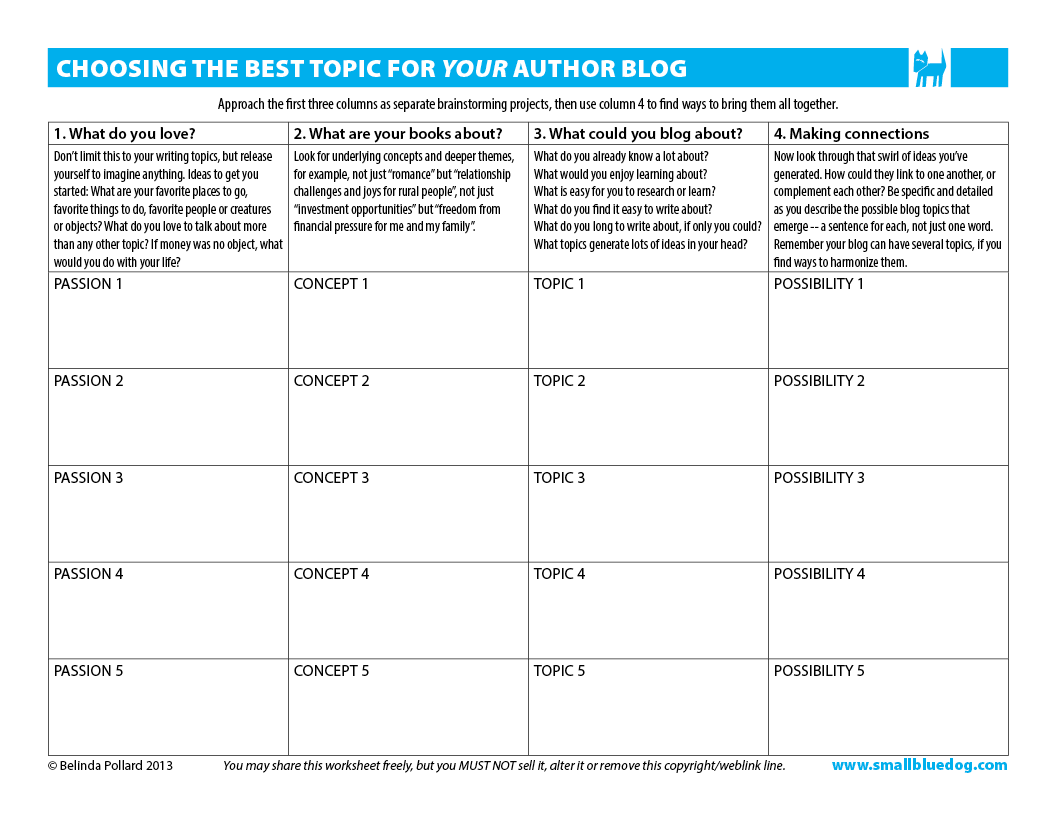 How To Choose A Theme For Your Author Blog