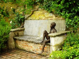 Sculpture on a bench