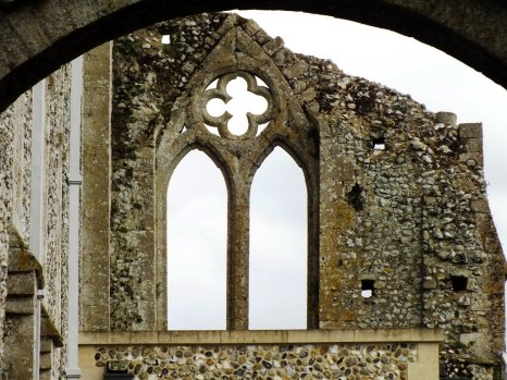 binham priory window landscape