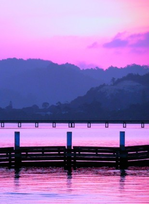 knysna sunset pink