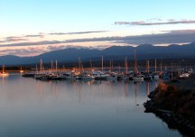 Comox Harbour at sunset