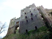 The imposing castle ruins