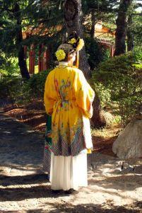 Dressing up in the Chinese Friendship Garden, Sydney