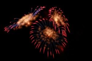 Fireworks celebrating financial independence goals