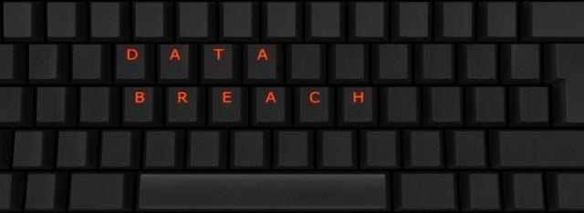 Data breach keyboard illustration
