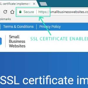 SSL certificate Small Business Websites