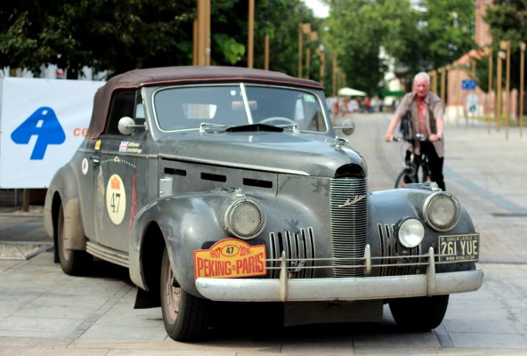 This 1940 Cadillac La Salle is driven by Jeff Barden and Linda Bellinger, both from GB.