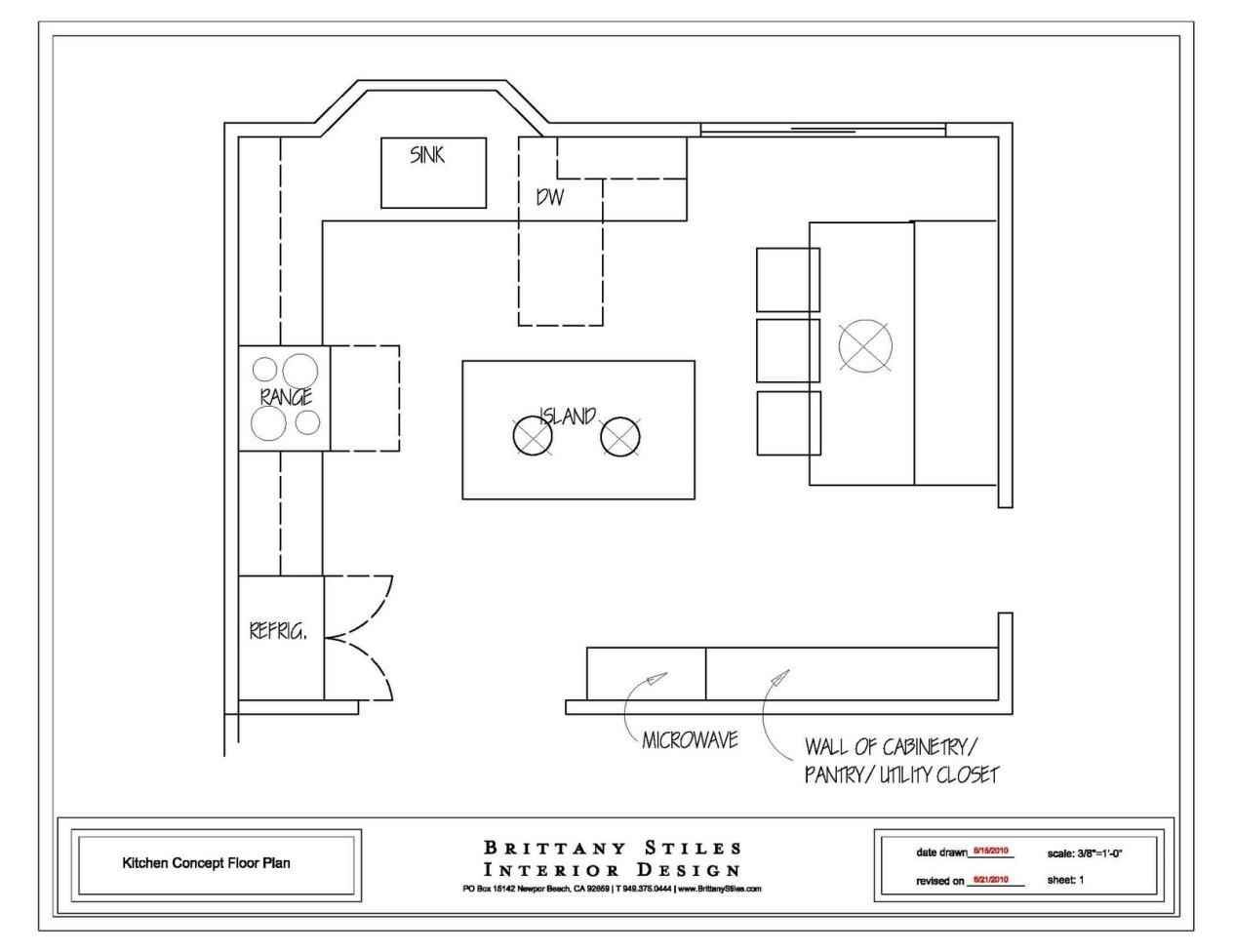 Detailed All-Type Kitchen Floor Plans Review