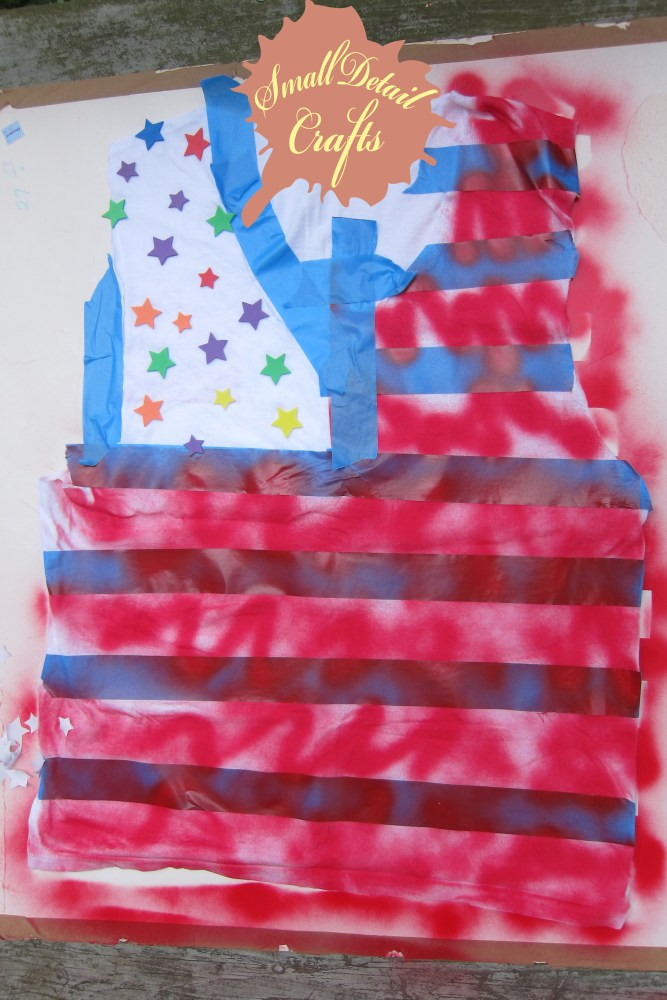 No Sew DIY Fourth of July Spray Paint Tank Top (6/6)