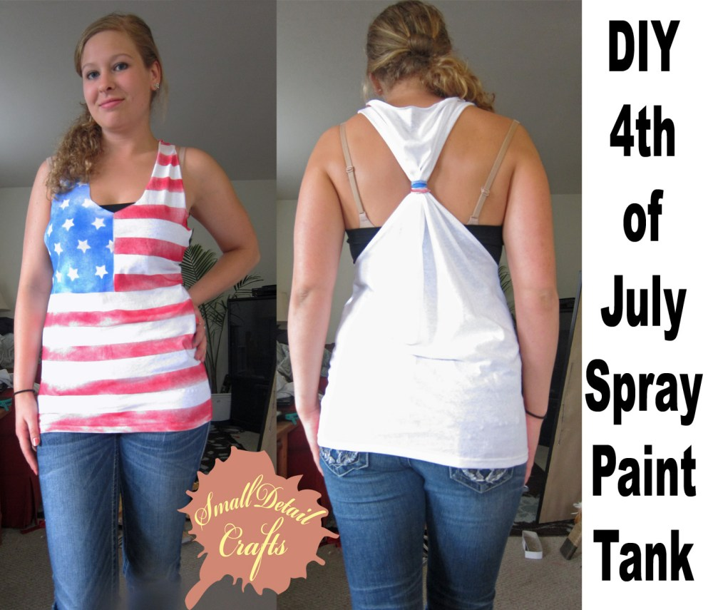 No Sew DIY Fourth of July Spray Paint Tank Top (1/6)