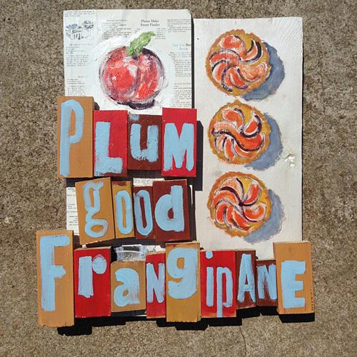 Frangipane raleigh nc bakery mixed media art
