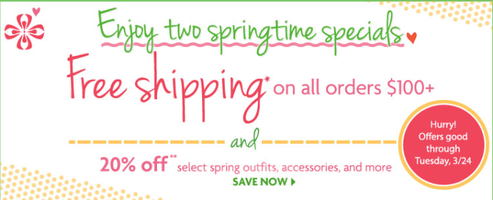 American Girl Spring Specials