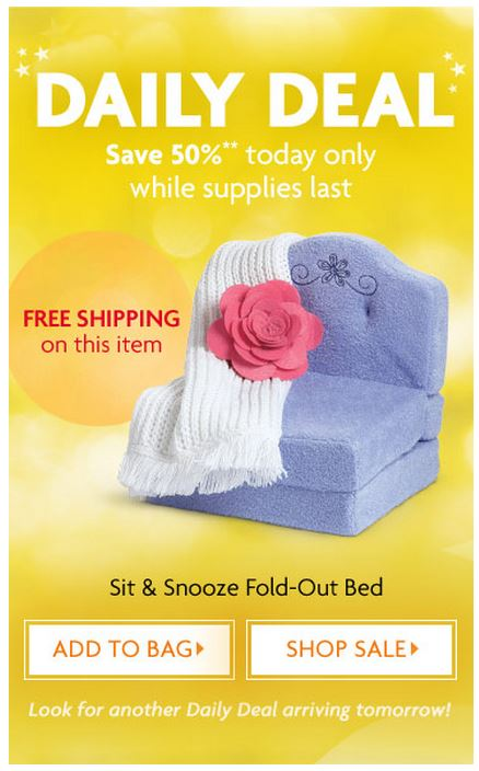 Daily Deal: Sit and Snooze Fold Out Bed
