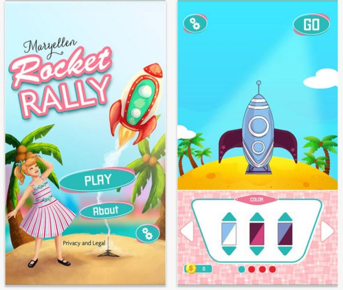 New Maryellen App – Rocket Rally
