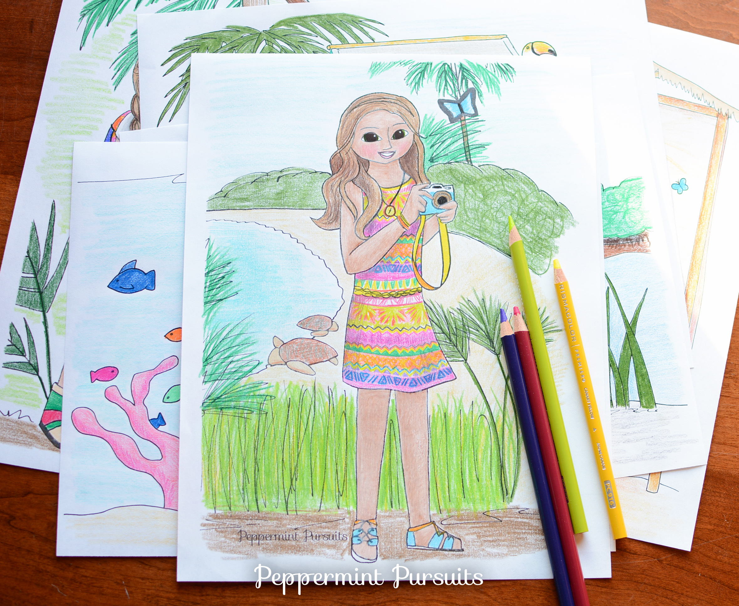 American girl doll lea clark coloring pages
