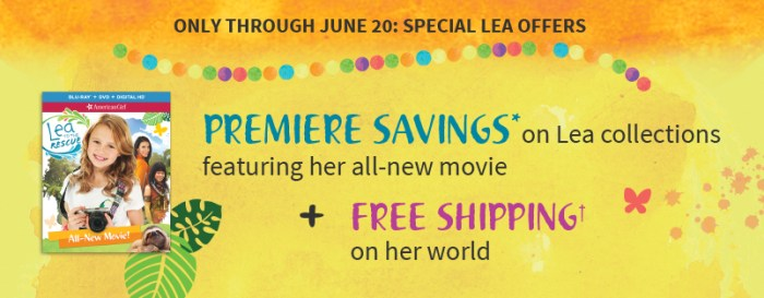 Savings and Free Shipping on Lea's World – Through June 20