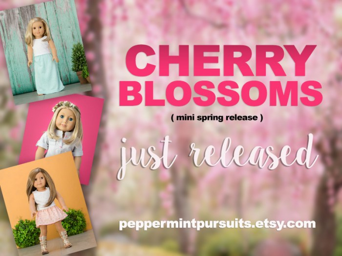 Cherry Blossoms – Mini Etsy Release in the Shop!